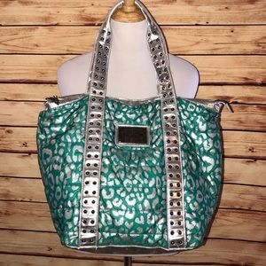Betseyville Turquoise/Silver Large Carryall Bag